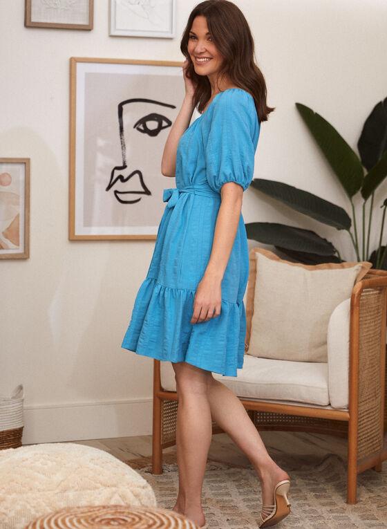 Maison Tara - Balloon Sleeve Dress, Blue
