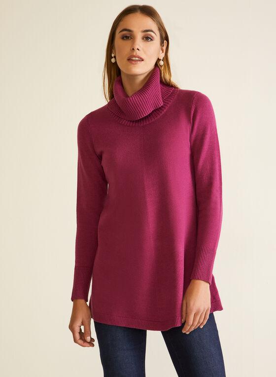 Shawl Collar Tunic, Purple