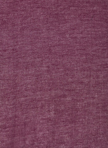 Foulard à détails en fibres métallisées, Violet,  foulard, léger, fibres métallisées, mousseline de soie,automne hiver 2020