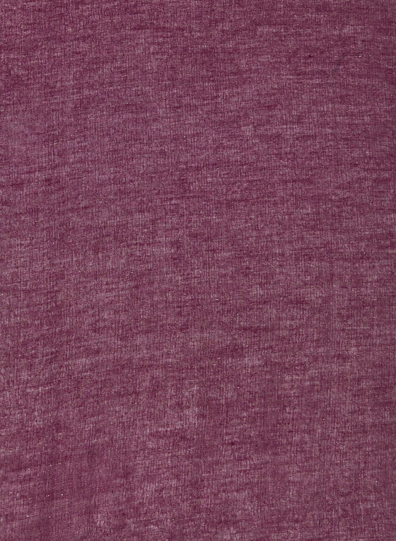 Châle à détails en fibres métallisées, Violet