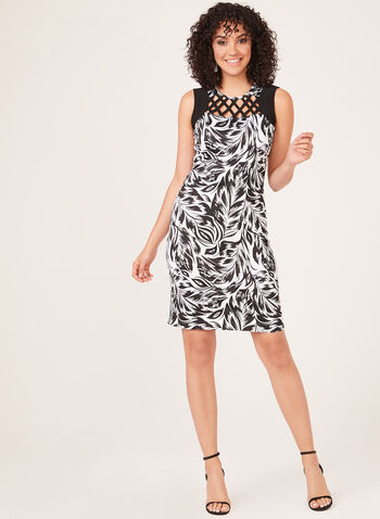 Sleeveless Yoke Jersey Dress, Black, hi-res
