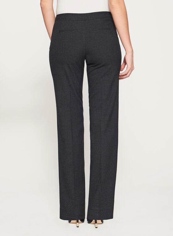 Pantalon à jambe large et imitation laine, Gris, hi-res
