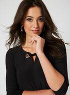 Nina Leonard - Lace Up Dress, Black, hi-res