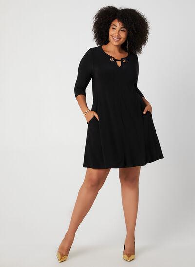 Nina Leonard - ¾ Sleeve Jersey Dress