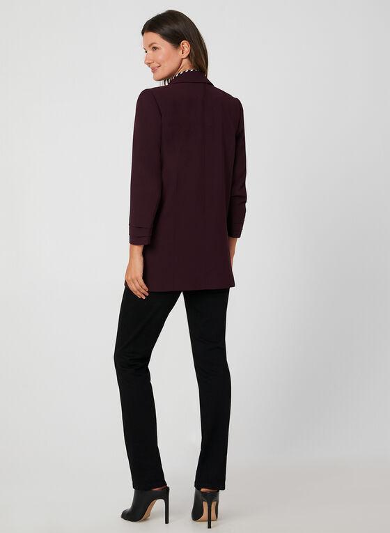 Long Crepe Blazer, Purple, hi-res