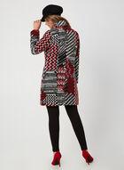 Manteau en tweed motif patchwork, Noir