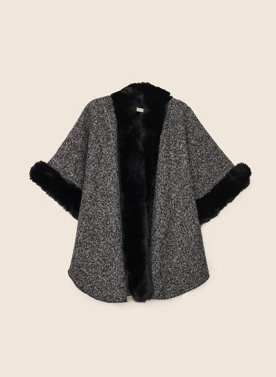 Tweed Style Shawl, Black