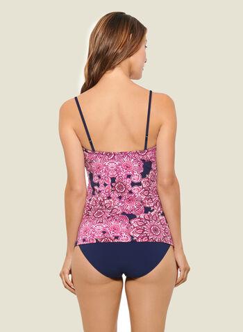 Christina - Tankini croisé motif mandala avec culotte, Rose,  maillot de bain, 2 pièces, tankini, mandala, bretelle amovible, printemps été 2020