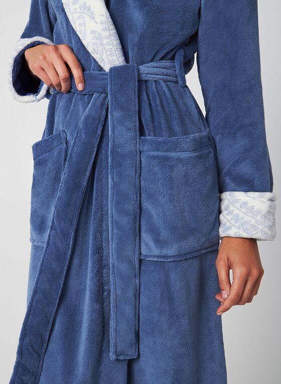 Claudel Lingerie - Belted Robe, Blue, hi-res