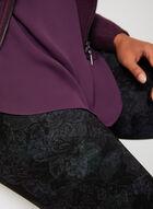 Pantalon coupe cité à motif floral, Bleu, hi-res