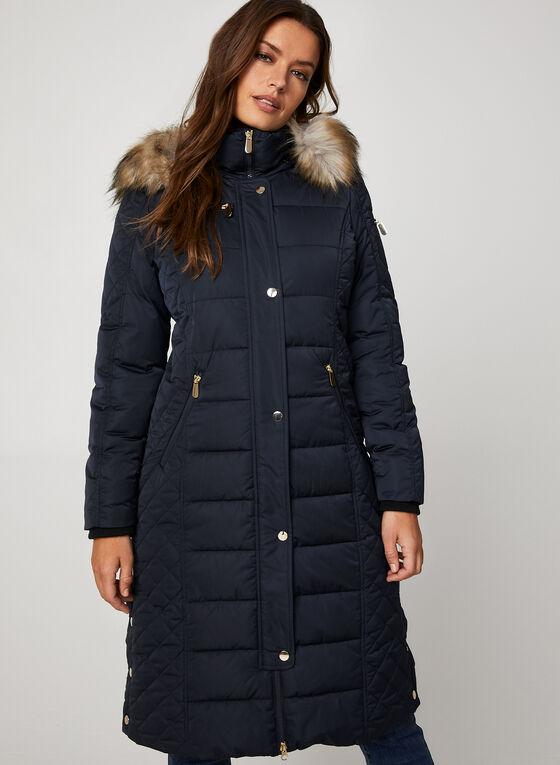 Chillax - Manteau long matelassé, Bleu