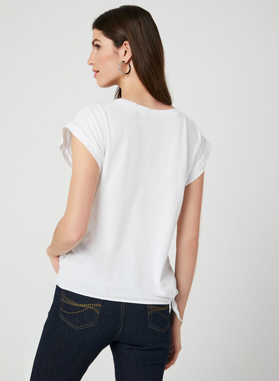 M Made in Italy - Asymmetric Cotton Top, White, hi-res