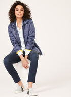 Lightweight Quilted Coat, Blue, hi-res