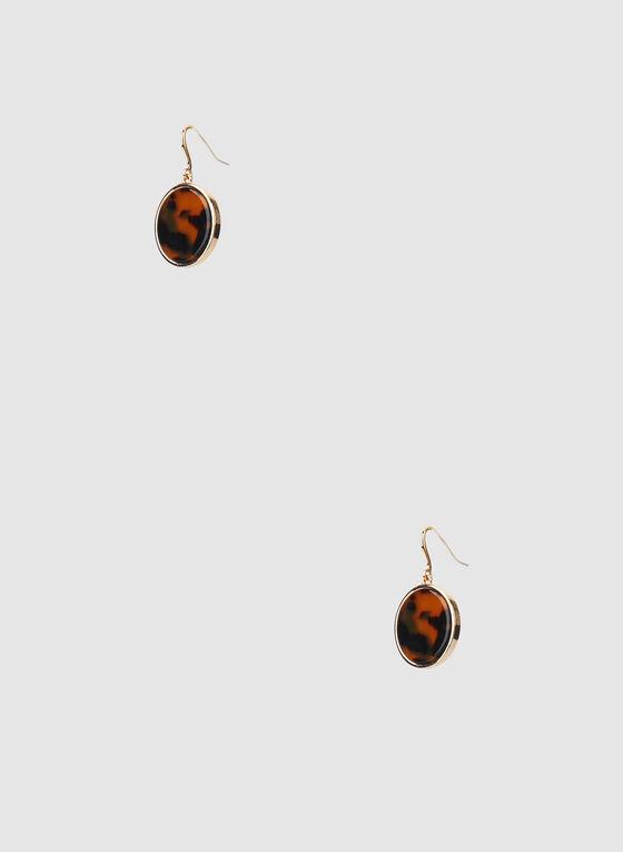 Dangle Earrings, Brown
