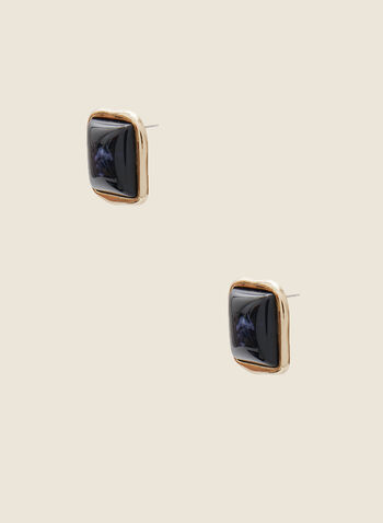 Square Stud Earrings, Blue,  fall winter 2020, earrings, jewelry, jewellery, accessories