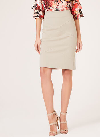 Pull-On Pencil Skirt, Grey, hi-res