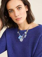 3/4 Dolman Sleeve Knit Sweater, Blue