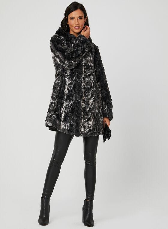 Reversible A-Line Coat, Black, hi-res