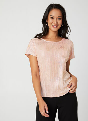 Drop Shoulder Knit Top, Multi,  top, drop shoulder, buttons, scoop neck, knit, fall 2019
