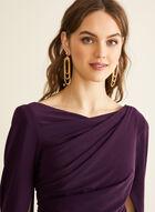 Draped Jersey Dress, Purple