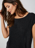 Metallic Knit Top, Black