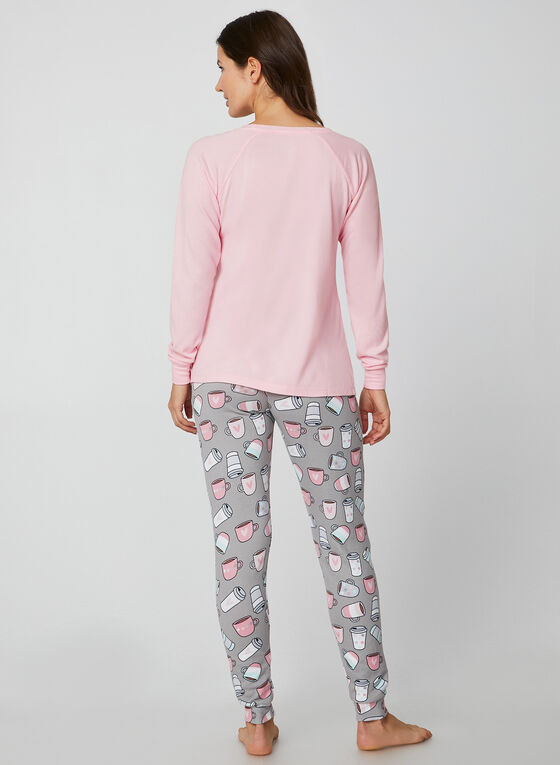 René Rofé - Two Piece Pyjama Set, Pink, hi-res