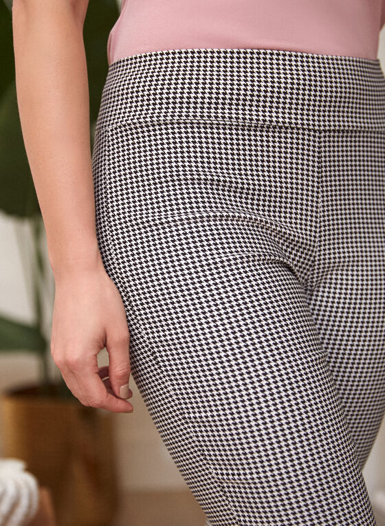 Houndstooth Pull On Shorts, Black