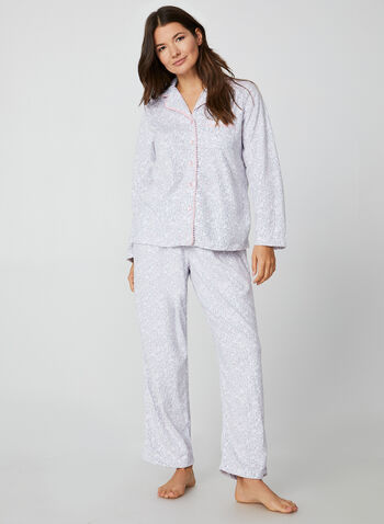 Pillow Talk - Two-Piece Pyjama Set, White,  Pillow Talk, sleepwear, pyjama, fleece, fall 2019, winter 2019