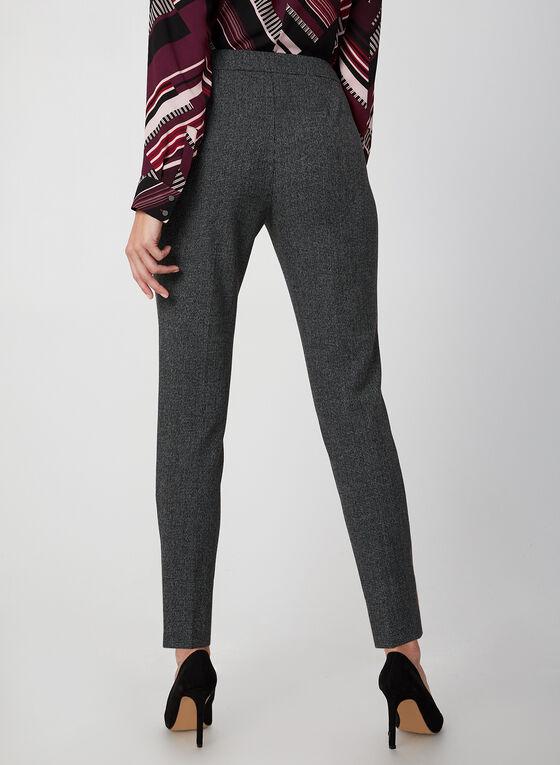 Modern Fit Houndstooth Pants, Black, hi-res