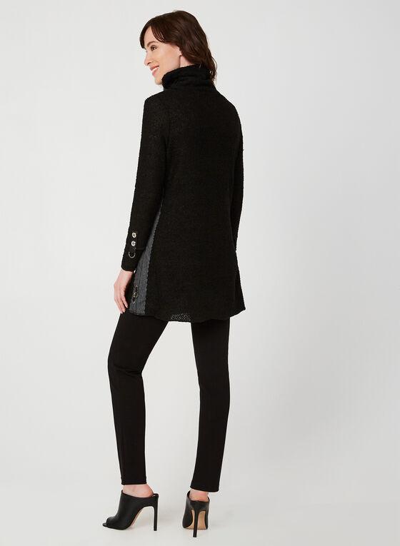 Turtleneck Knit Tunic, Black