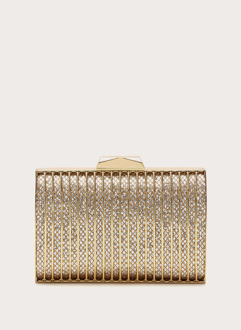 Grill Box Evening Clutch, Gold, hi-res