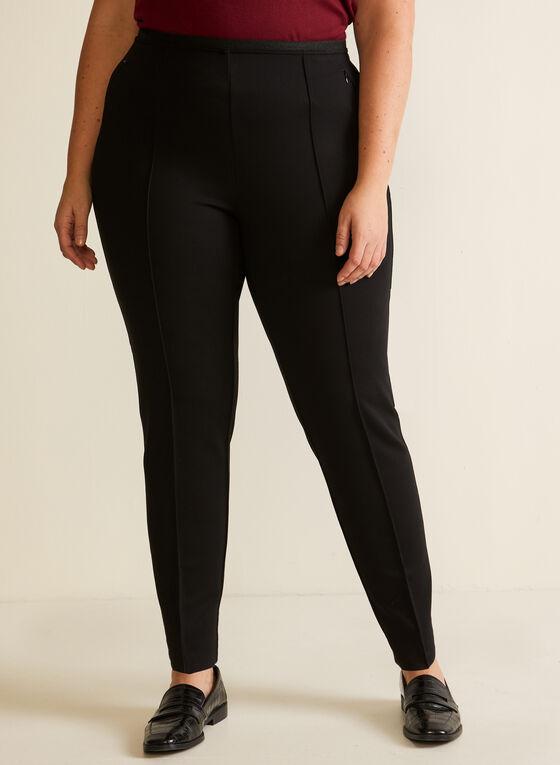 Slim Leg Pull On Pants, Black