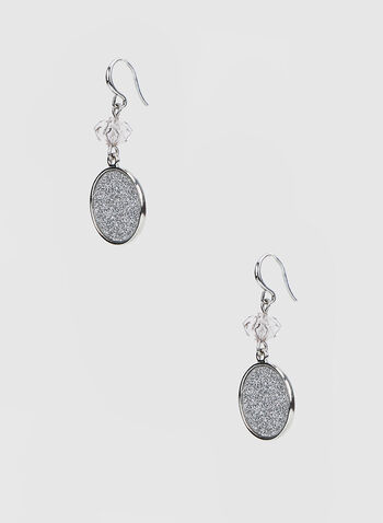 Glitter Dangle Earrings, Silver,  canada, earrings, dangle earrings, glitter, glitter earrings, fall 2019, winter 2019, holiday