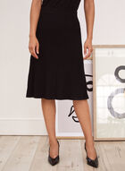 Pleated Midi Skirt, Black