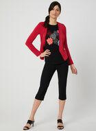 Floral Print Ruffle T-Shirt, Black, hi-res