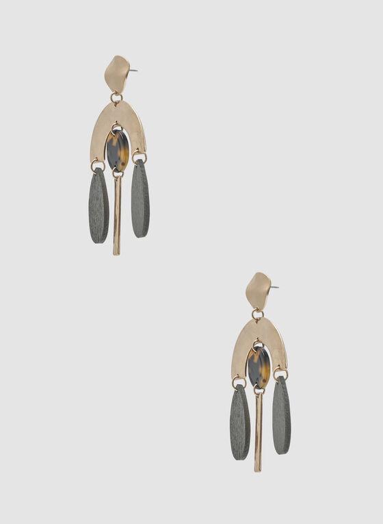Boucles d'oreilles tribales, Or