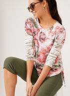 Abstract Floral Burnout Print Top, Multi, hi-res