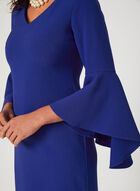 Jessica Howard -  Robe droite à manches cloche en pointe , Bleu, hi-res