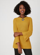 Bell Sleeve Knit Top, Yellow, hi-res