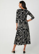 Paisley Print Jersey Maxi Dress, Black, hi-res