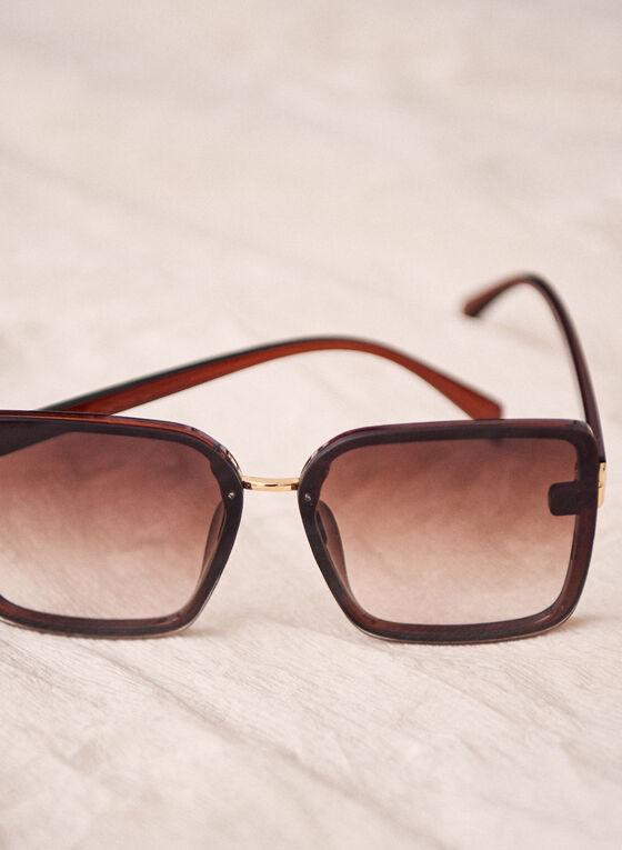 Oversize Square Sunglasses, Brown