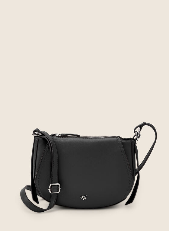 Rounded Crossbody Bag, Black