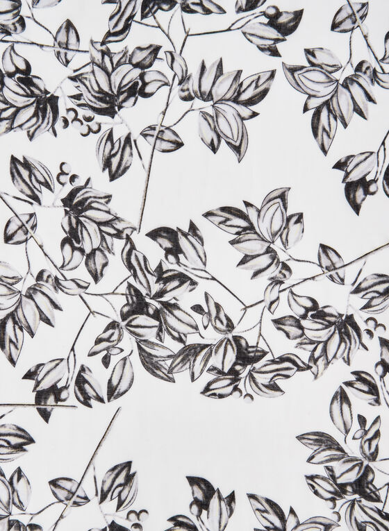 Foulard léger motif feuilles, Rouge