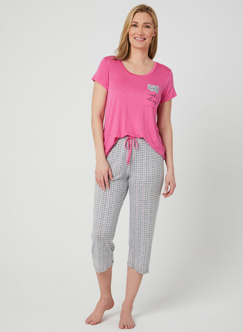 Pillow Talk - Polka Dot Pyjama Set, Pink, hi-res