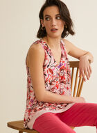 Sleeveless Floral Blouse, Purple