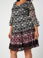 Bell Sleeve Lace Dress, Black