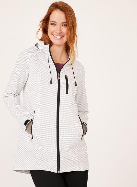 Novelti - Dot Print Raincoat, Off White, hi-res