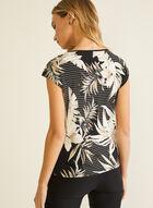 Tropical Print Top, Black