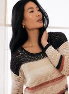 Crochet Knit Sweater, Blue