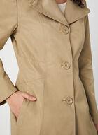 Anne Klein - Notch Collar Coat, Brown